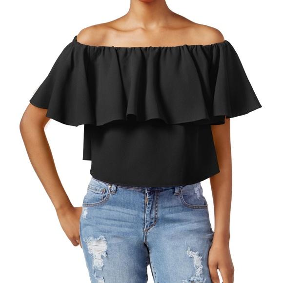 c1434f35be76b Rachel Roy Off The Shoulder Flutter Sleeve Top XL